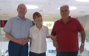 Da sinistra: Vittorino Novello, Laura de Palma e Rosario Di Lorenzo, i tre promotori del simposio
