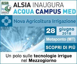 Acqua Campus Med a Nova Agricoltura Irrigazione 2018